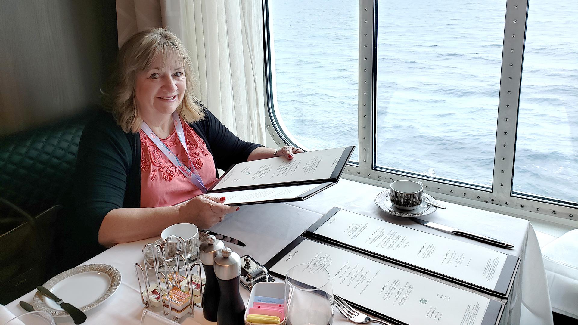 Kerry enjoying her cruise